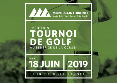 TOURNOI DE GOLF | 21E ÉDITION