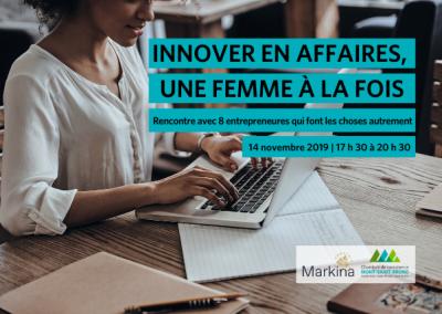 Soirée-Conférence | Innover en affaires, une femme à la fois