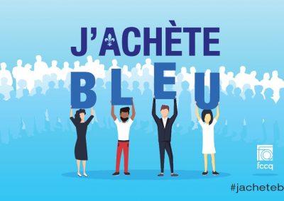 Campagne J'achète Bleu