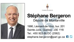 Stéphane Bergeron, député de Montarville