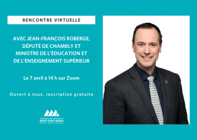 Rencontre virtuelle avec Jean-François Roberge