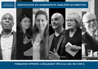 Certification en leadership et habiletés de direction