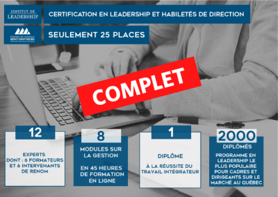Certification en leadership et habiletés de direction